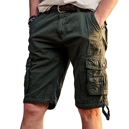 ab26f3675e VAVE Mens Cargo Shorts Tactical Outdoor Work Hiking Military Army Cotton  Wear Multiple Pocket Loose Slim