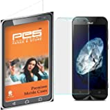 PES 0.3mm Tempered Glass for Asus Zenfone Max ZC550KL [Cutout for Proximity Sensor], 0.3mm thickness, 9H Hardness, 2.5D Curved Edge, Reduce Fingerprint, No Rainbow, Bubble Free & Oil Stains Coating with Alcohol wet cloth pad & clean micro fibre Dry cloth,Premium Anti Explosion Tempered Glass Screen Protector for Asus Zenfone Max ZC550KL