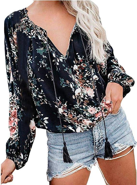 Blusas para Mujer Verano Otoño Moda 2019, Camisas y Blusas para ...