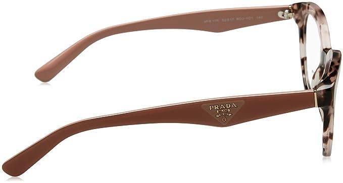 371cc95998 Amazon.com  Prada TRIANGLE PR11RV Eyeglass Frames ROJ1O1-52 - Pink Havana  PR11RV-ROJ1O1-52  Shoes