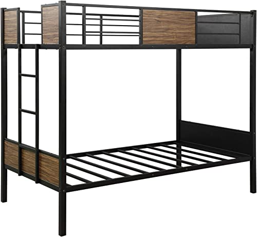 Recaceik Twin Bunk Bed,Full Steel Metal Frame Living