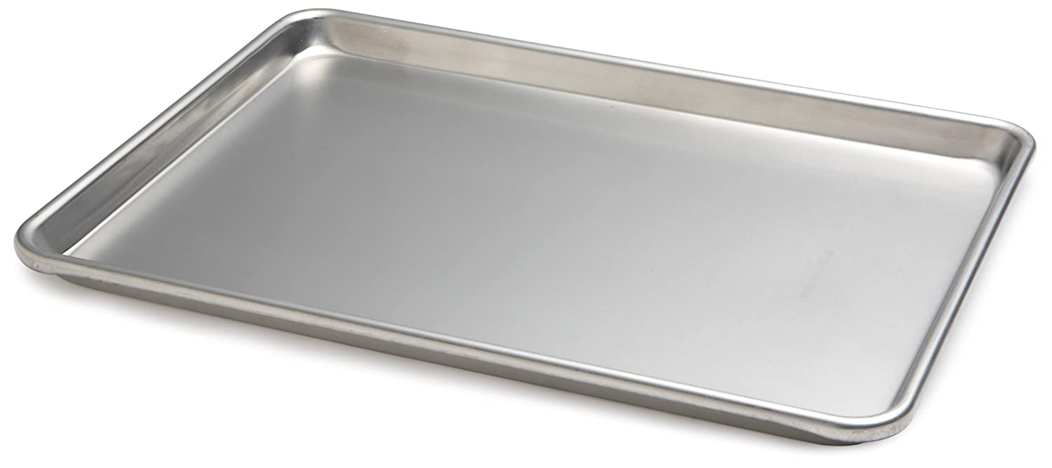 Focus Foodservice Commercial Bakeware 13 by 18 Inch 18 Gauge Aluminum Half Sheet Pan