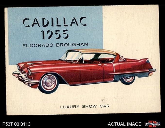 El Dorado Blue Card >> 1954 Topps World On Wheels 177 Cadillac Eldorado 1955