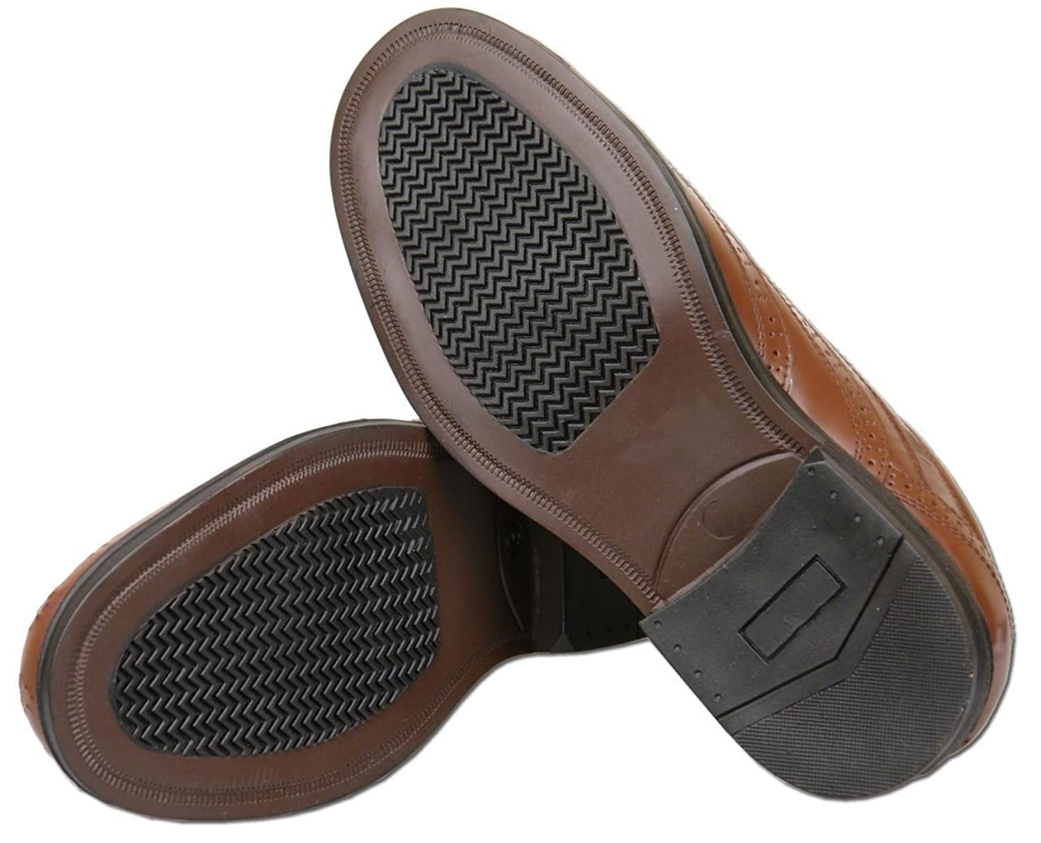 Mens Brown Leather Brogues Bundle With Woly Shoe Cleaner (2 items):  Amazon.co.uk: Shoes & Bags