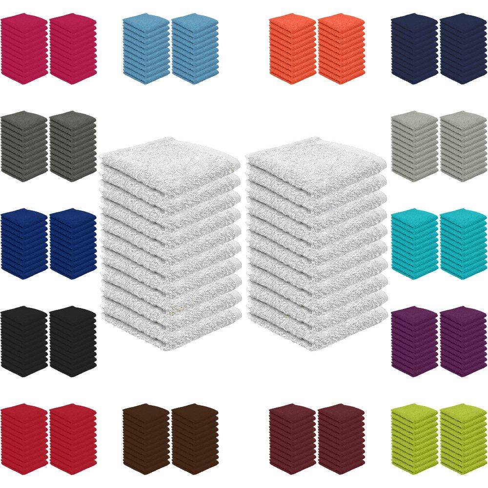 Falco 20er Pack Seif Panni risparmio prezzo in vari colori 30x 30cm 100% cotone, Cotone, bordeaux, Seiftücher 30x30 cm 20er Pack