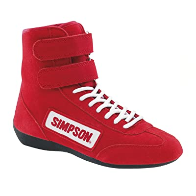 Simpson Racing 28850RD The Hightop Red Size 8-1/2 SFI Approved Driving Shoes: Automotive