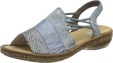 Rieker Women's Closed Toe Sandals, Blue