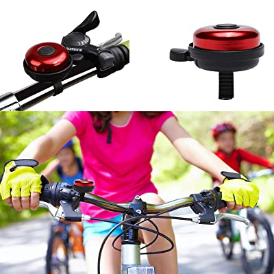 Cristin Tang Bicycle Bell Cute Clear Sound Adjustable Size Aluminum Bike Accessories Bell Ring for Girls Women Kids Adults