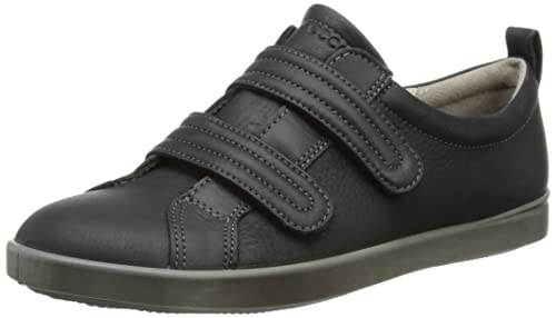 076e2d4da8bc ECCO Shoes Womens Aimee Velcro Low-Top Trainers 24111311001 Black 4 ...