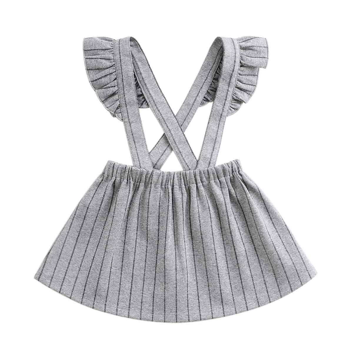 marc janie Little Girls' Fashion Suspender Skirt Baby Girls Jumpsuit Strap Overall Dress TQ70071