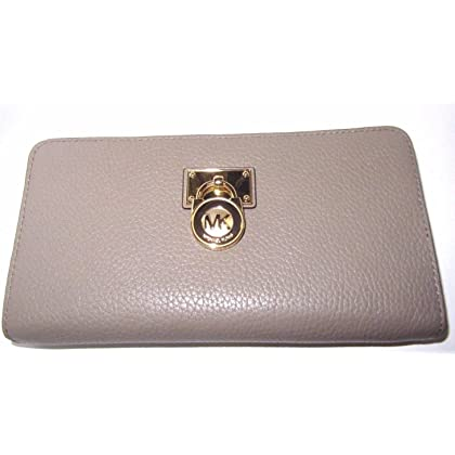 904162a9244b Michael Kors Hamilton Traveler Large Leather Zip Around Wallet
