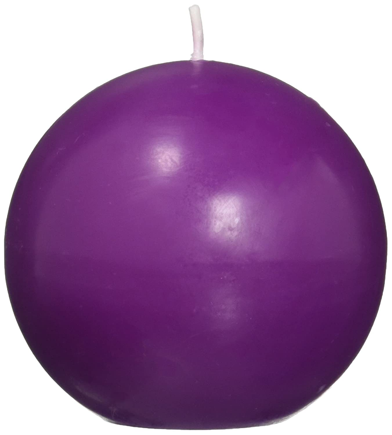 Zest Candle 6-Piece Ball Candles, 3-Inch, Purple CBZ-023
