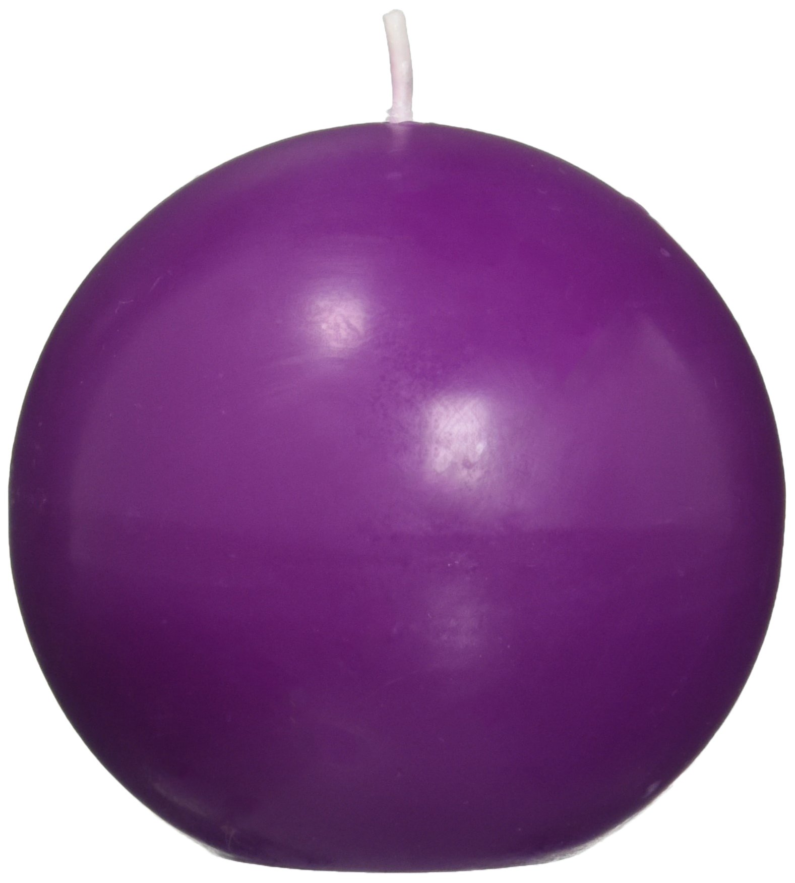 Zest Candle 6-Piece Ball Candles, 3-Inch, Purple by Zest Candle