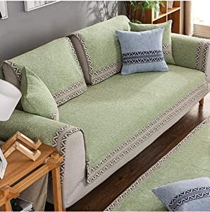 XXQ Elastic Sofa Cover, Reversible Furniture Protector Ideal Sofa Slipcovers for Pets Children Will Keep Your Couch Stain Dirt & Scratches-Free,D,70x180cm(28x71inch)