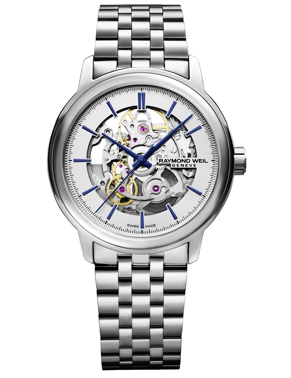 Raymond Weil Men's 'Maestro' Quartz Stainless Steel Casual Watch, Color:Silver-Toned (Model: 2215-ST-65001)