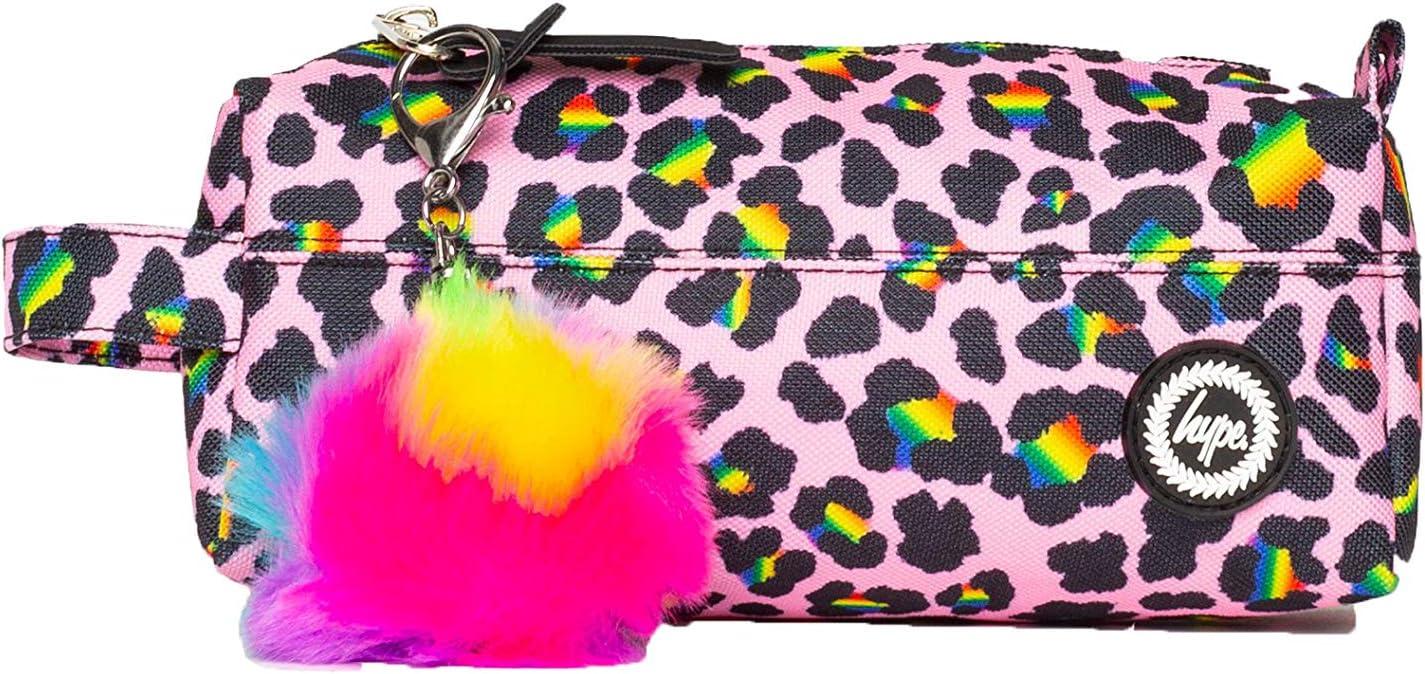 HYPE - Estuche para lápices, diseño de leopardo arcoíris: Amazon.es: Oficina y papelería