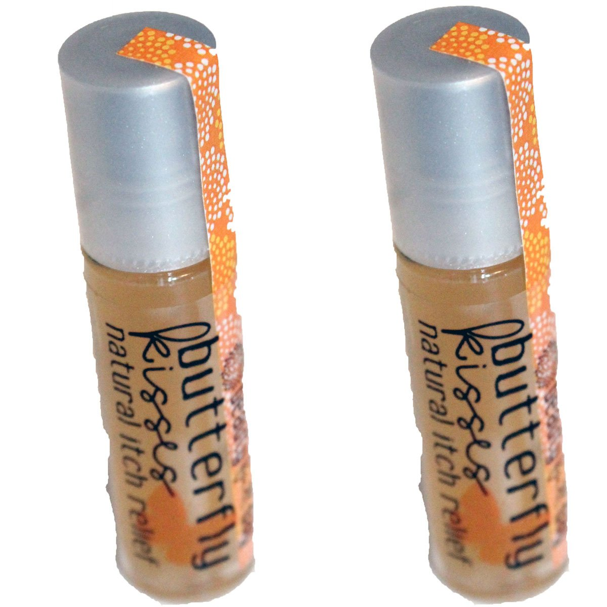 Set of 2 - Butterfly Kisses All-Natural Itch Relief Gel Rollers or Insect Bite Relief By Beauty Full Day