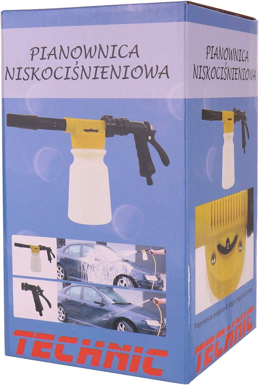 Schaumkanone Technic Foam Gun Schaumlanze Schaumpistole Anschlüsse Schaum Waschpistole Autowäsche Lanze Baumarkt