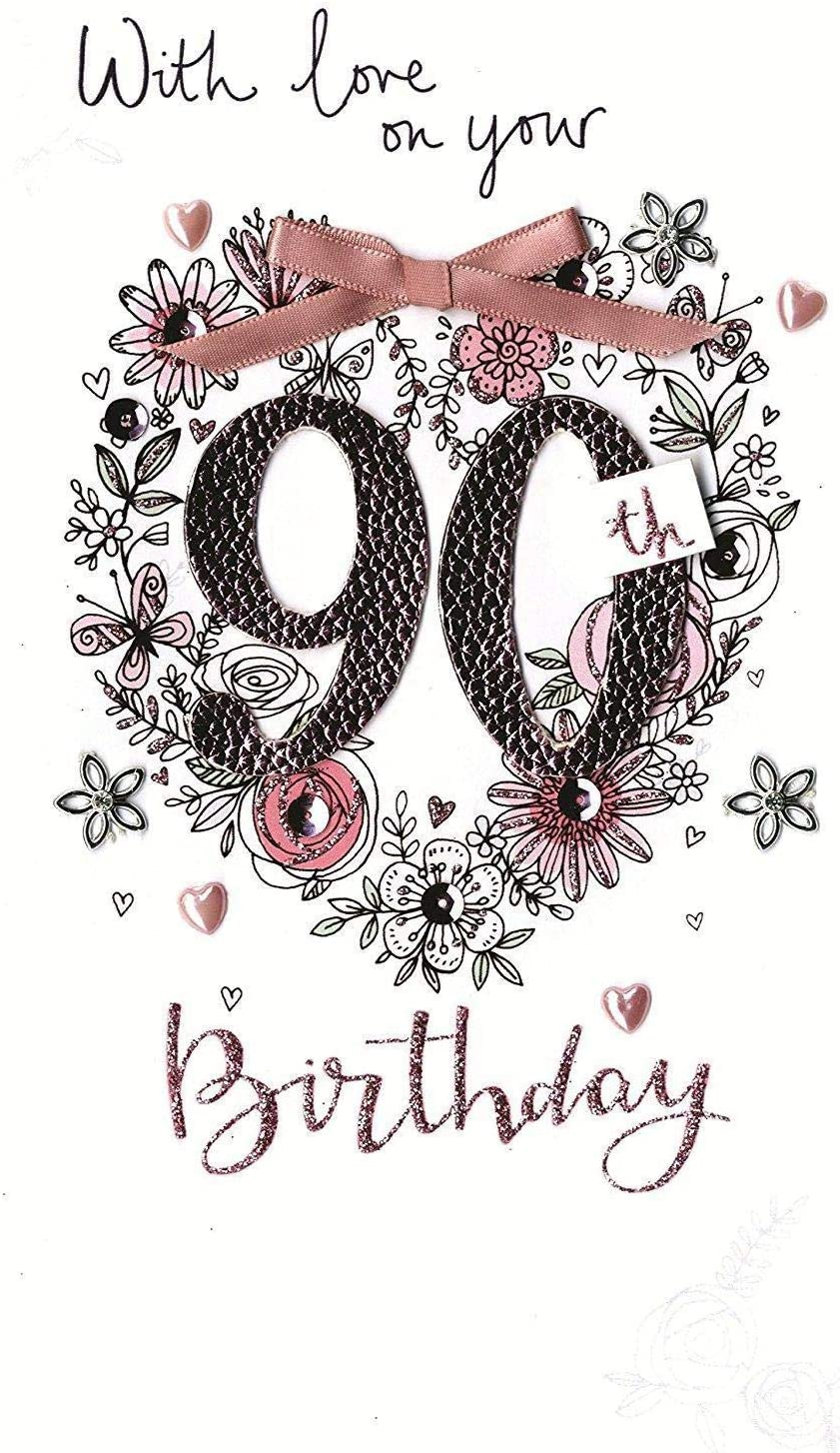 Female 90th Birthday Greeting