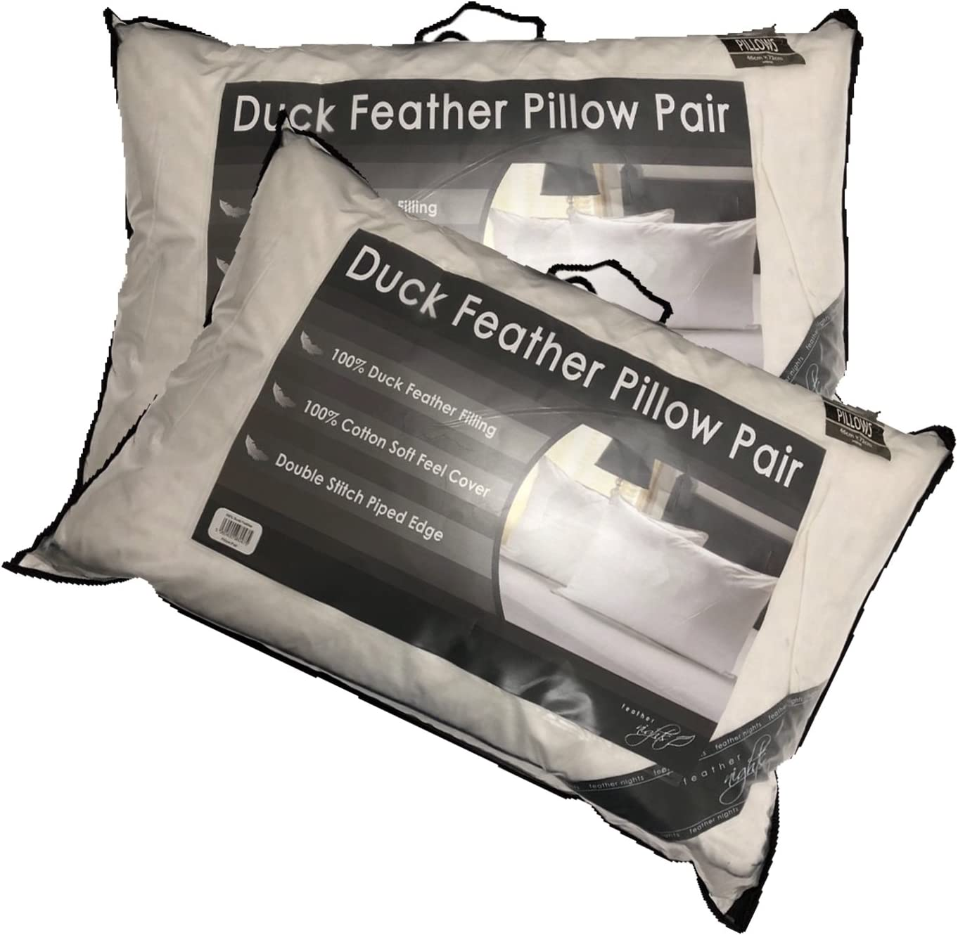 EXTRA FILLED DUCK FEATHER PILLOW LUXURY HOTEL QUALITY SOFT /& COMFORTABLE
