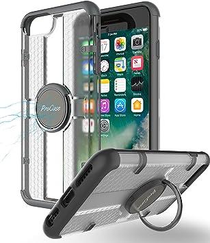 Funda iPhone 8 Plus/iPhone 7 Plus, ProCase Estuche Multifunción con Soporte Giratorio para Soporte de Anillo,Funda de Kickstand para Apple iPhone 8 Plus /iPhone 7 Plus 5.5 Pulgada -Negro: ProCase: Amazon.es: Electrónica
