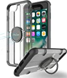 iPhone 8 Plus Case, iPhone 7 Plus Case with Grip Ring Holder, ProCase Multi-Function Cover with Rotating Ring Holder Stand for Magnetic Car Mount Holder for Apple iPhone 8 Plus and 7 Plus -Black