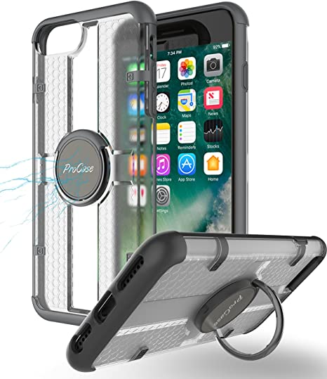 Cell Phones & Accessories Metal Finger Ring Car Holder Stand Magnetic Bracket Case Fr Iphone Xs Max Xr X 8 Neither Too Hard Nor Too Soft Cell Phone Accessories