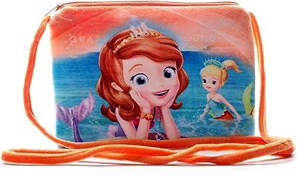 HC Toys Girls Happy Club Rapunzel Princesses Soft Canvas Material Sling Bag (Orange)