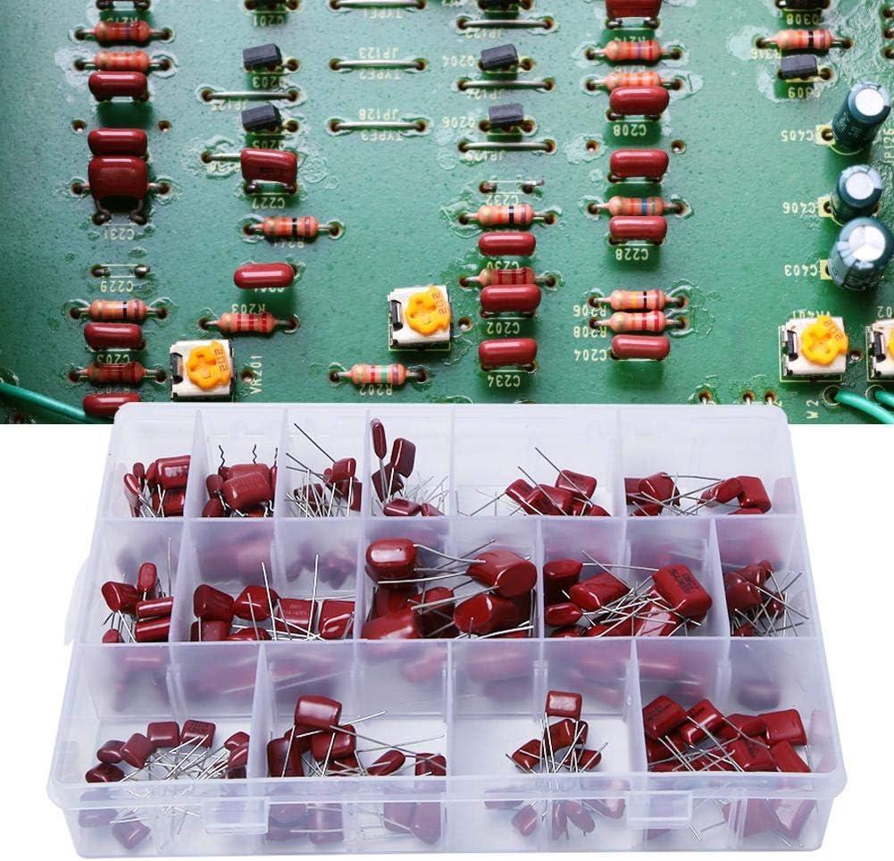 Hyuduo Assortimento di condensatori a Film in Polipropilene CBB da 180 Pezzi 10nf//0,01uf//400v-68nf//0,0068uf//630v