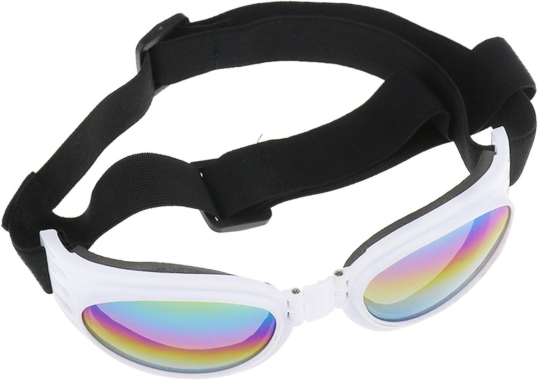 Create Idear Gafas de Sol para Perros con Protección UV, Plegables, Resistentes al Viento, para Gafas y Gafas