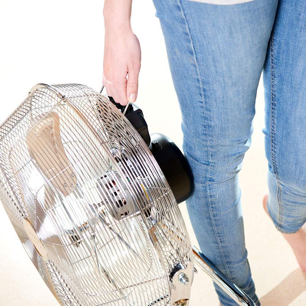 cromado Taurus Sirocco 18 Ventilador circulador de aire de suelo 120 W