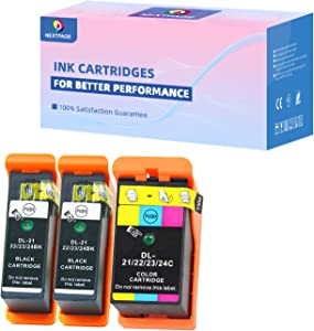 Compatible Dell Series 21 Ink cartridges Replacement for Dell Series 21, 22, 23, 24 Ink Cartridges Work for Dell V313 V313W V515W P513W P713W V715W Printer, Series 23 Dell Ink 3 Pack