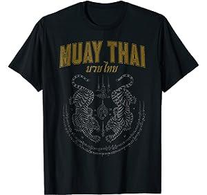 ea1e00b48d457 Amazon.com: Muay Thai T-Shirt Thai Boxing Gift: Clothing