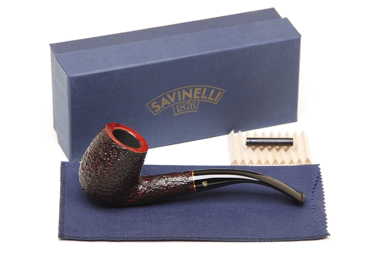 Savinelli Italian Tobacco Smoking Pipes, Roma Rusticated 606 KS 6mm by Savinelli