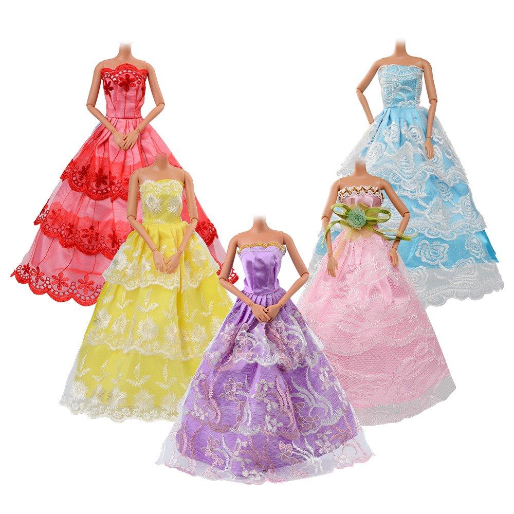 ASIV 5 Stück Mode Lange Kleider, 12 Stück Mini-Kleider, 10 Paar ...