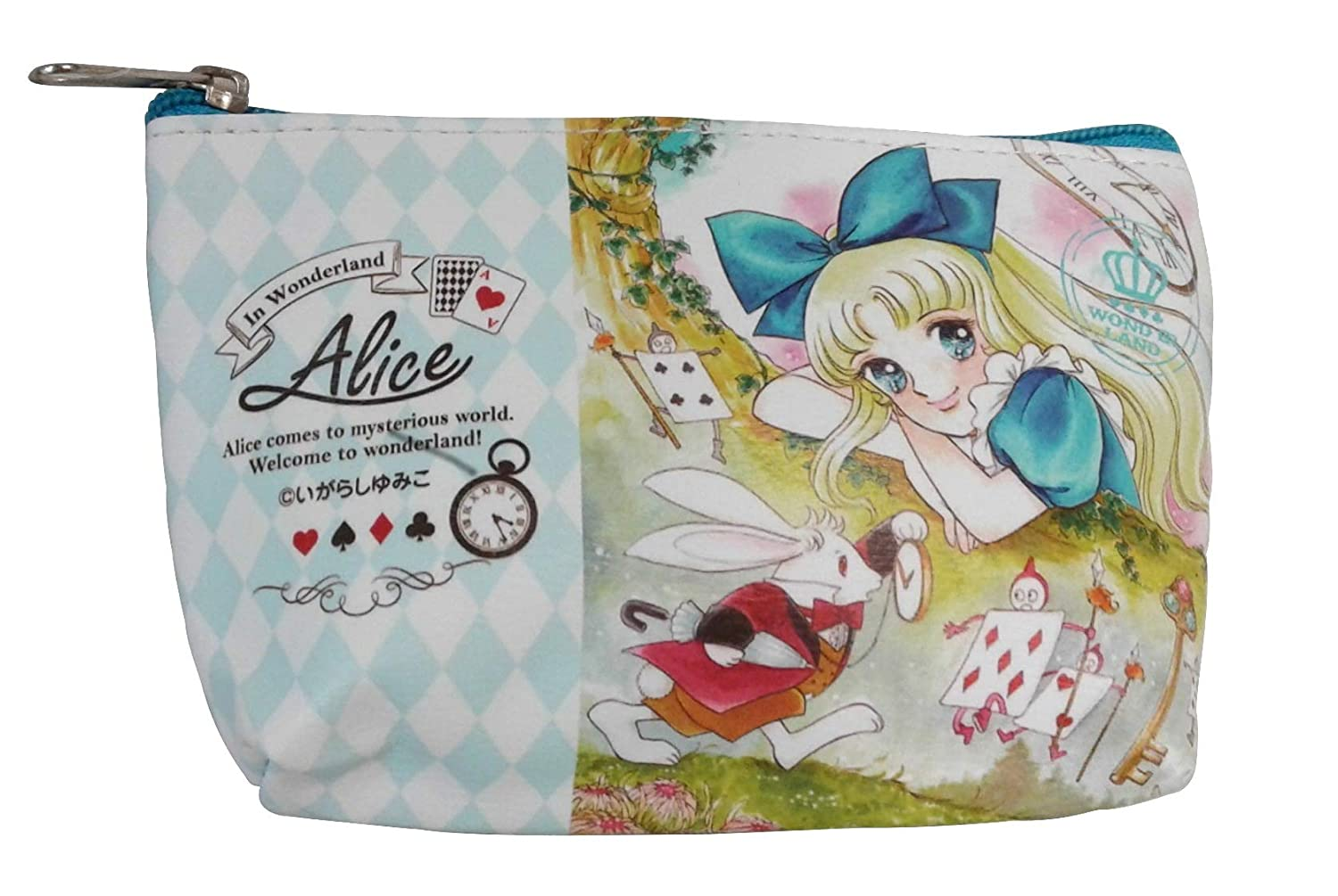 d5b602272621 Amazon.com  GlobalEdge Anime Alice in Wonderland Pouch for Makeup ...