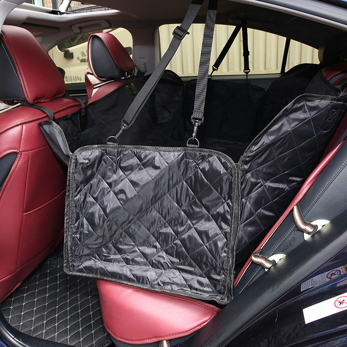 Seat Cover with Zipper Tineer Pet Dog Cat Seat Covers Carry Dog Back Seat Car Predection Scratch Proof Nonslip Car Seat Cover Mat (Seat Cover with Zipper)