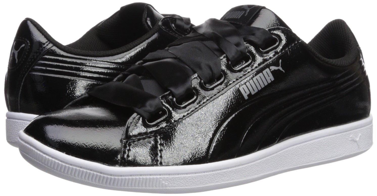PUMA Women's Vikky Ribbon P Sneaker B072KGD8Z6 8 B(M) US|Puma Black-puma Black
