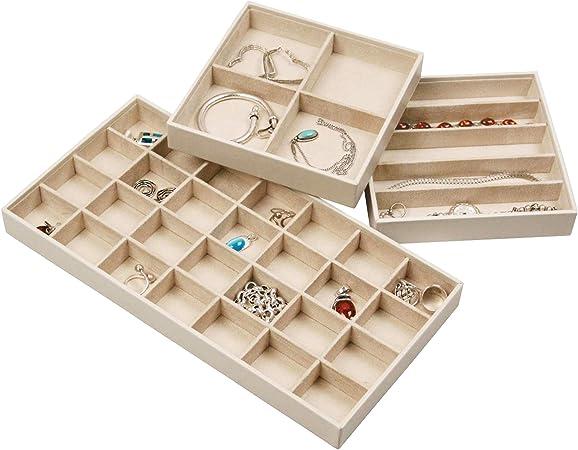 Stock tu hogar organizador de joyas bandejas apilable para ...