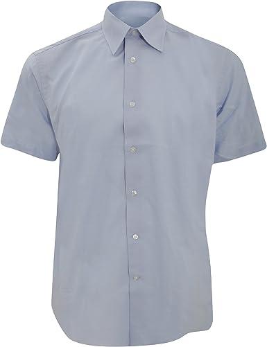 Russel Collection - Camisa de Manga Corta Cuidado facil Modelo Oxford Tailored Hombre Caballero - Trabajo/Oficina/Recepcion