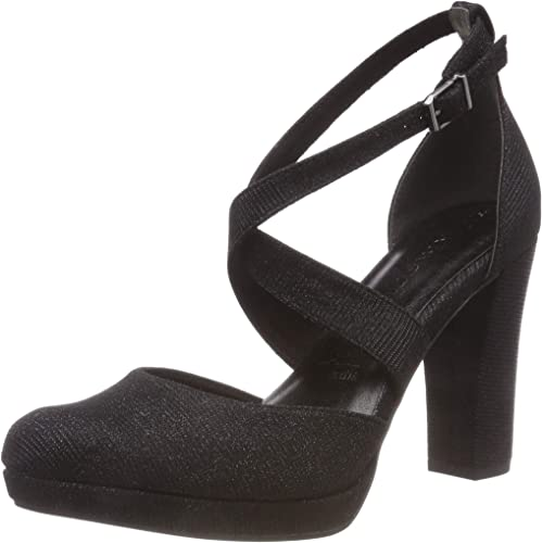 TALLA 40 EU. Tamaris 24416-21, Zapatos con Tacon y Correa de Tobillo para Mujer