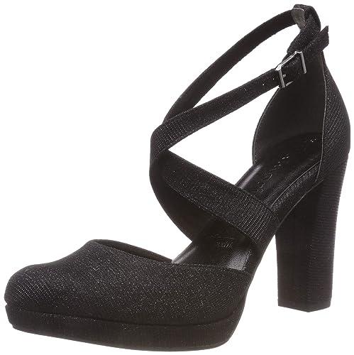 Tamaris 24416-21, Zapatos con Tacon y Correa de Tobillo para Mujer