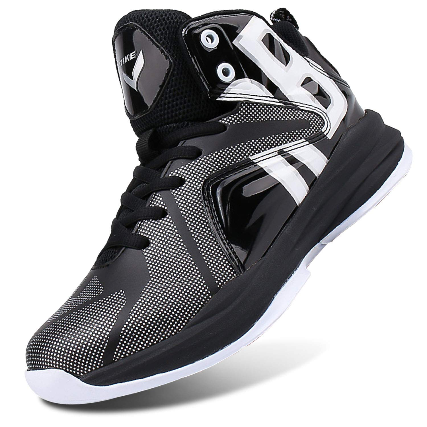 Little Kid//Big Kid WETIKE Kids Basketball Shoes High-Top Sneakers Outdoor Trainers Durable Sport Shoes 13M US Little Kid, Armor Black