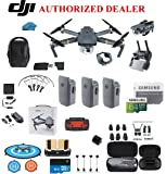 DJI Mavic Pro Drone Quadcopter Fly More Combo with 3 Batteries, 4K Professional Camera Gimbal Bundle Kit with DJI Bag, 64GB SD Card, Range Extender,Landing Pad, Must Have Accessories