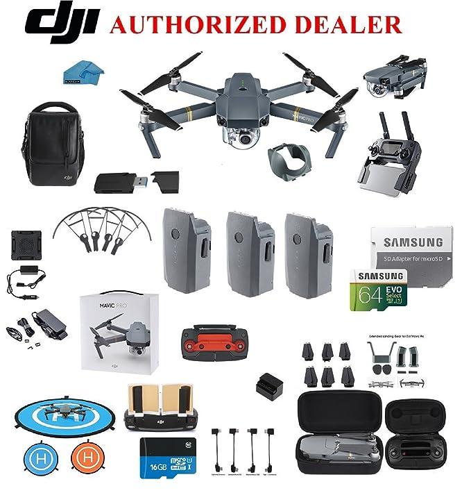 Amazon Com Dji Mavic Pro Drone Quadcopter Fly More Combo With K Professional Camera Gimbal Bundle Kit With Dji Bag Gb Sd Card