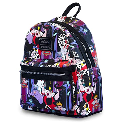 edcadc6cc5a Loungefly x Disney Villains Full Colour Print Mini Backpack  Amazon.co.uk   Luggage