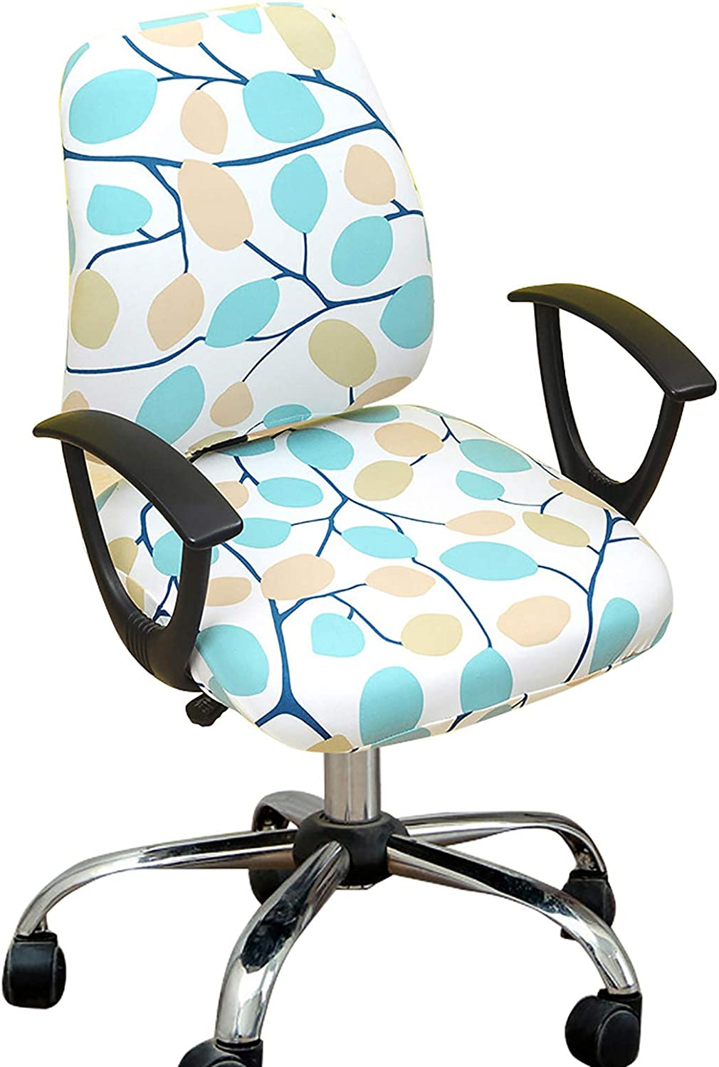 Melaluxe Computer Office Chair Cover - Protective & Stretchable Universal Chair Covers Stretch Rotating Chair Slipcover
