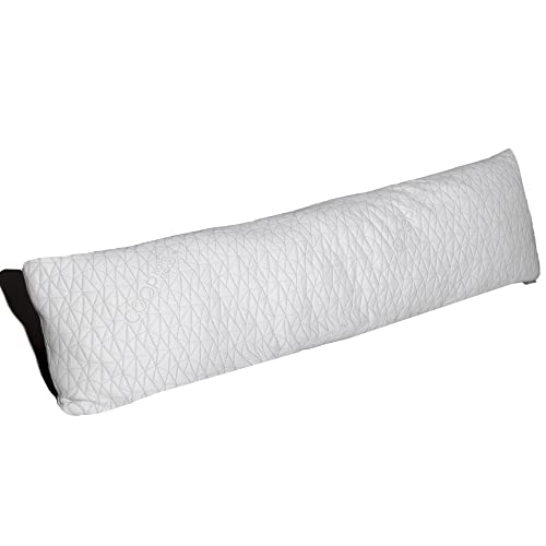 Coop Home Goods - Memory Foam Body Pillow with Adjustable Shredded Memory Foam – Perfect Pillow to Snuggle during pregnancy - Soft Washable Bamboo Derived Viscose Rayon Blend Cover - best pregnancy body pillow