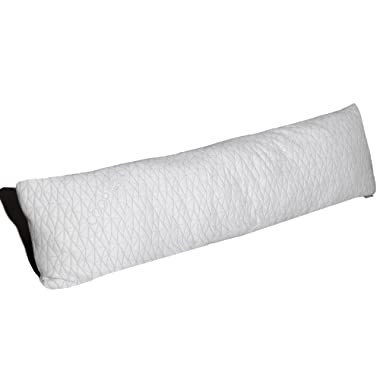 Coop Home Goods - Memory Foam Body Pillow with Adjustable Shredded Memory Foam – Perfect Pillow to Snuggle During Pregnancy - Soft Washable Bamboo Derived Viscose Rayon Blend Cover - 20x54