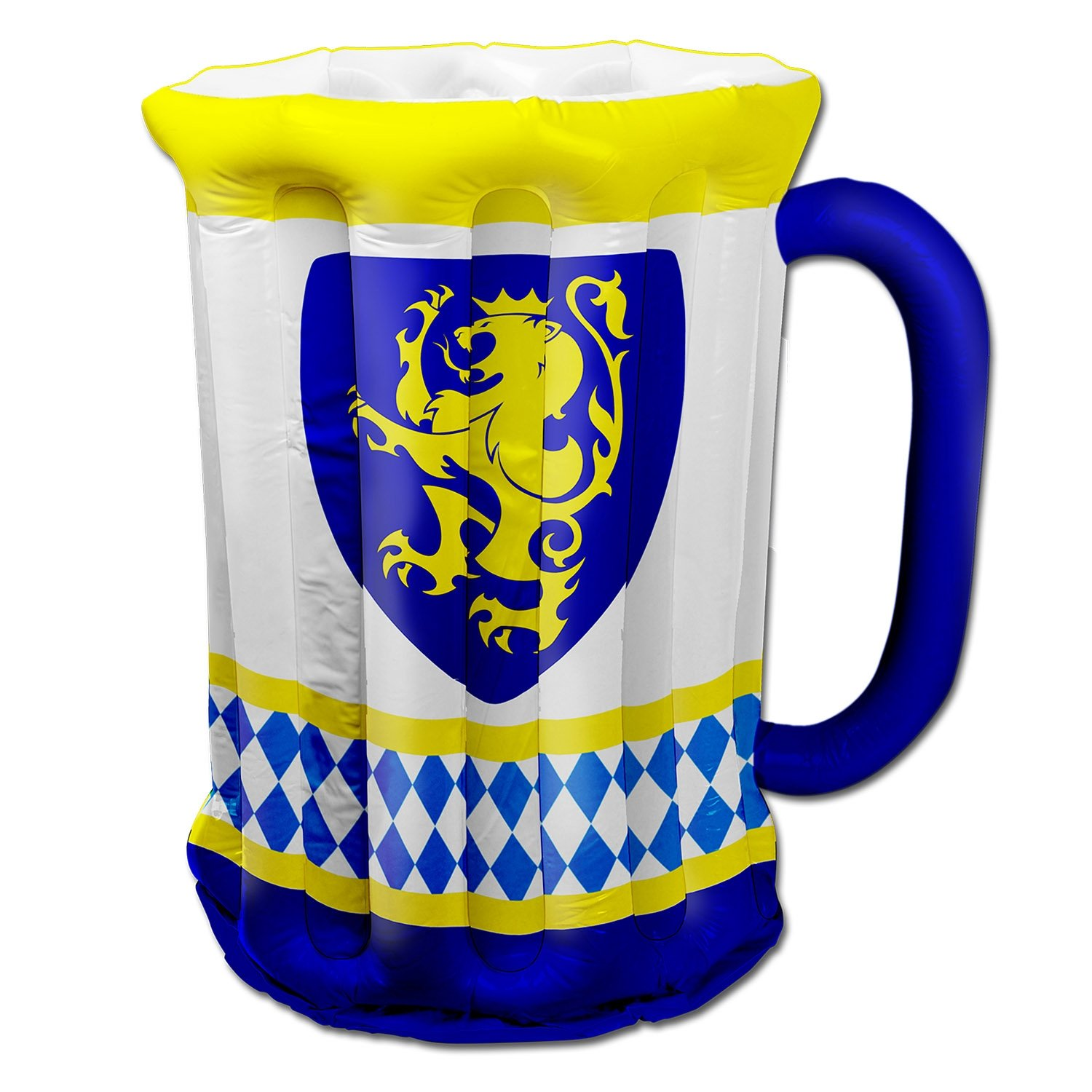 Beistle 54079 Inflatable Beer Stein Cooler, 18-Inch Width X 27-Inch Height, Yellow/White/Blue The Beistle Company